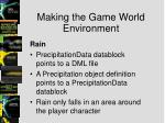 making the game world environment11