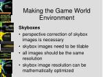 making the game world environment2