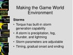 making the game world environment7