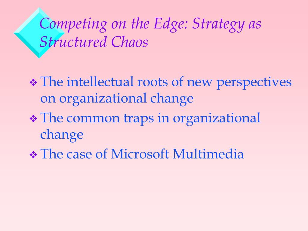Competing on the Edge Strategy As Structured Chaos