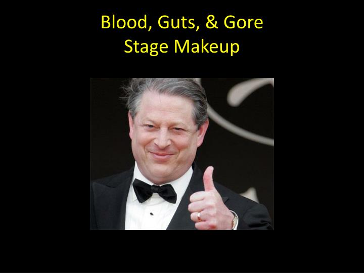 blood guts gore stage makeup n.