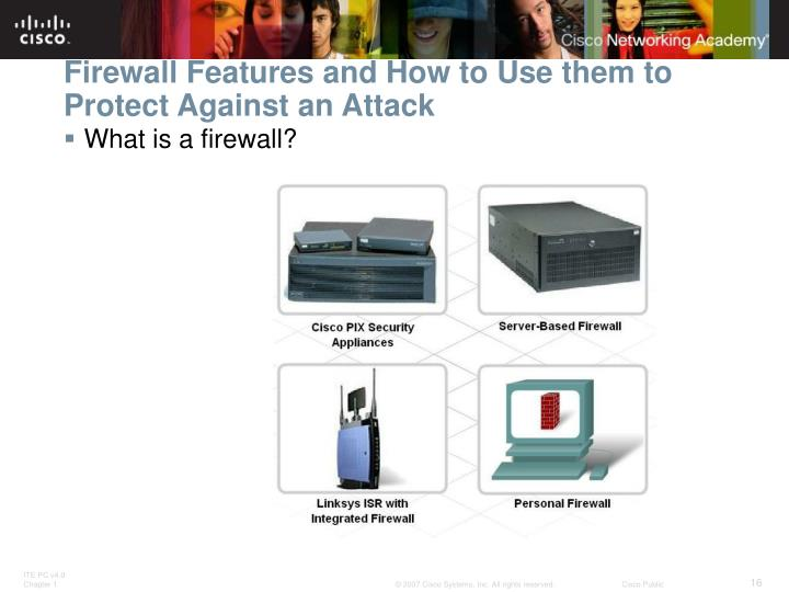 Firewall Features and How to Use them to Protect Against an Attack