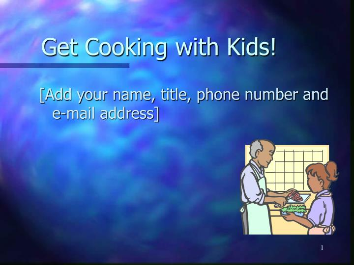 get cooking with kids n.