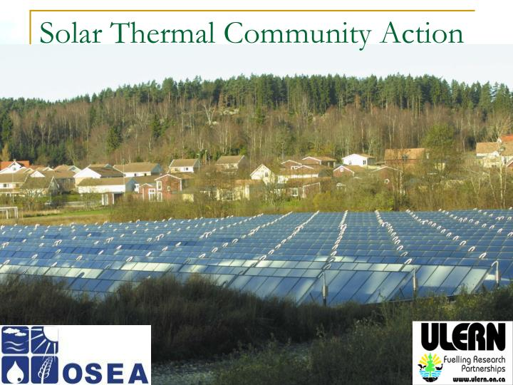 solar thermal community action n.