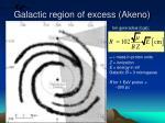 galactic region of excess akeno
