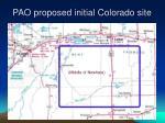 pao proposed initial colorado site