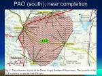 pao south near completion