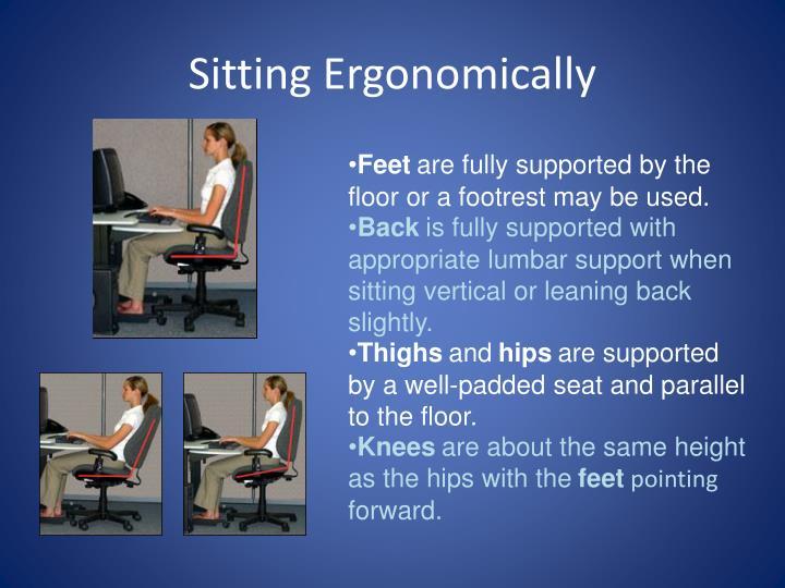 Sitting Ergonomically