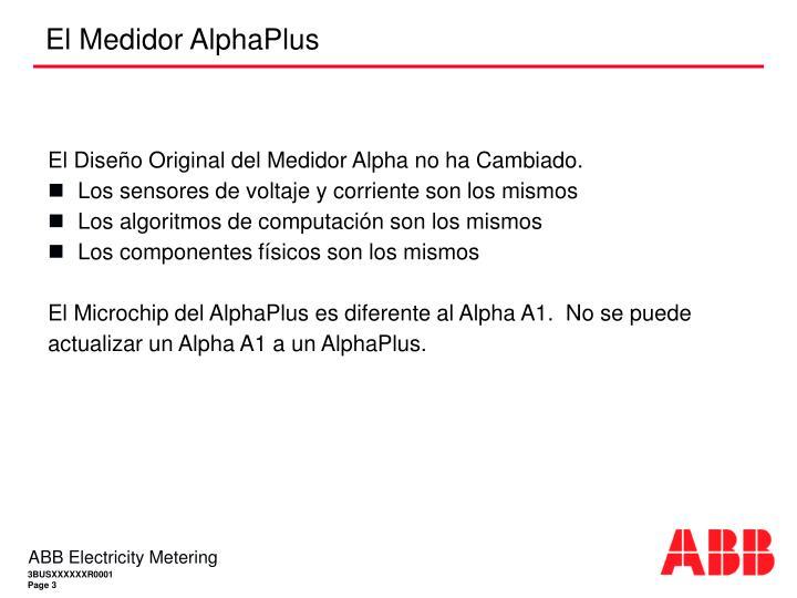 El medidor alphaplus