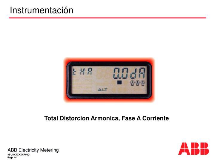 Total Distorcion Armonica, Fase A Corriente