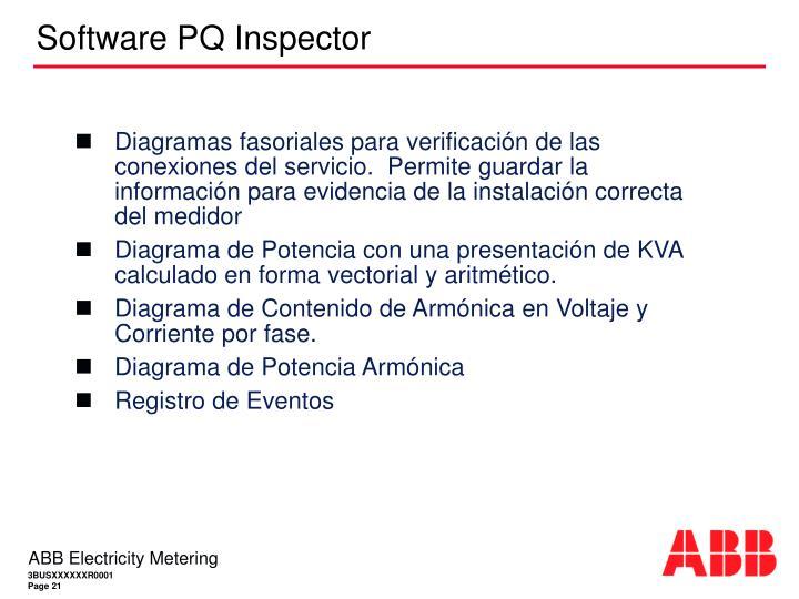 Diagramas fasoriales para verificación de las conexiones del servicio.  Permite guardar la información para evidencia de la instalación correcta del medidor