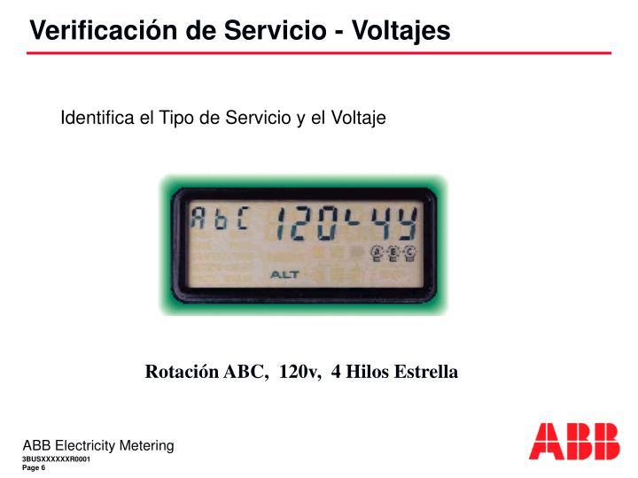 Identifica el Tipo de Servicio y el Voltaje