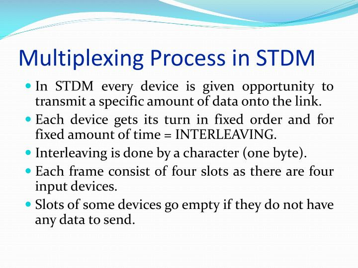 Multiplexing Process in STDM