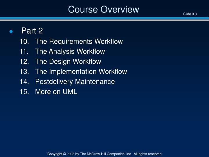 Course overview1