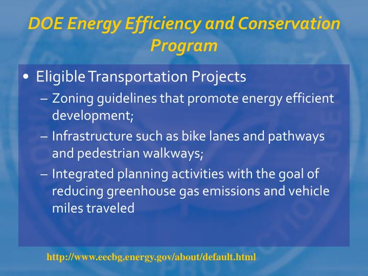 DOE Energy Efficiency and Conservation Program