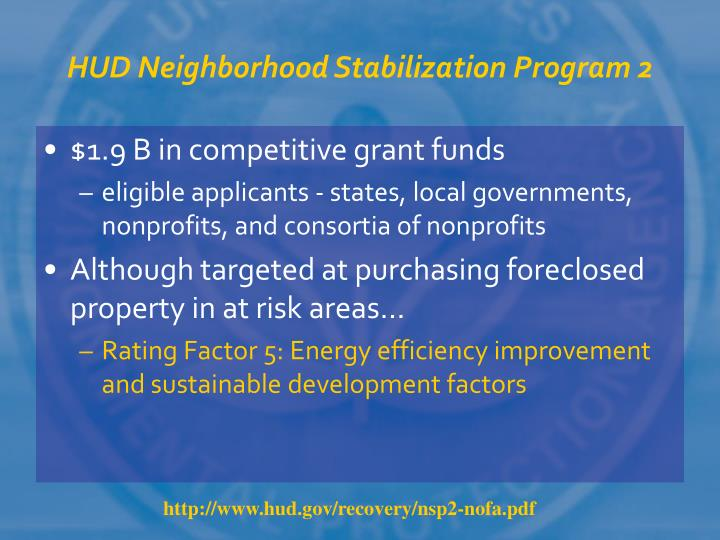 HUD Neighborhood Stabilization Program 2