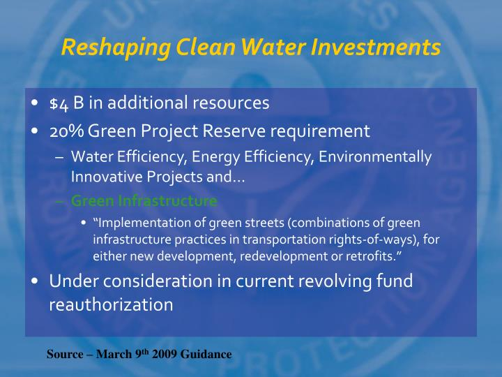 Reshaping Clean Water Investments