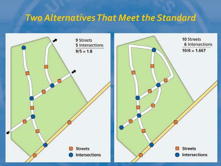 Two Alternatives That Meet the Standard
