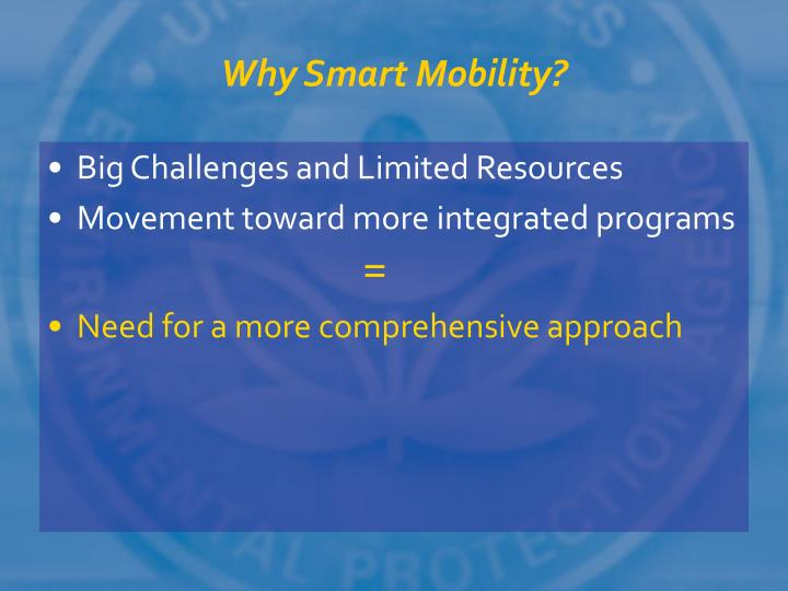 Why smart mobility