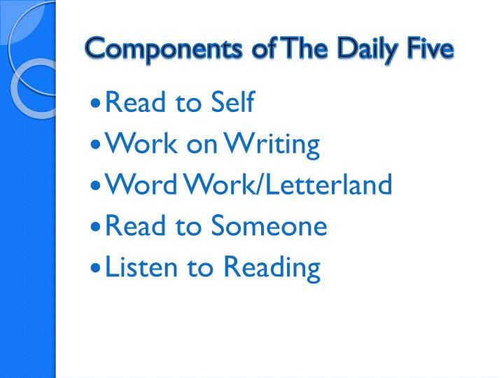 Components of The Daily Five