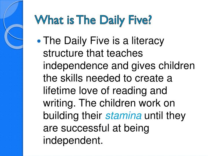 What is The Daily Five?