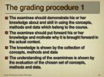 the grading procedure 1