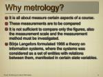 why metrology