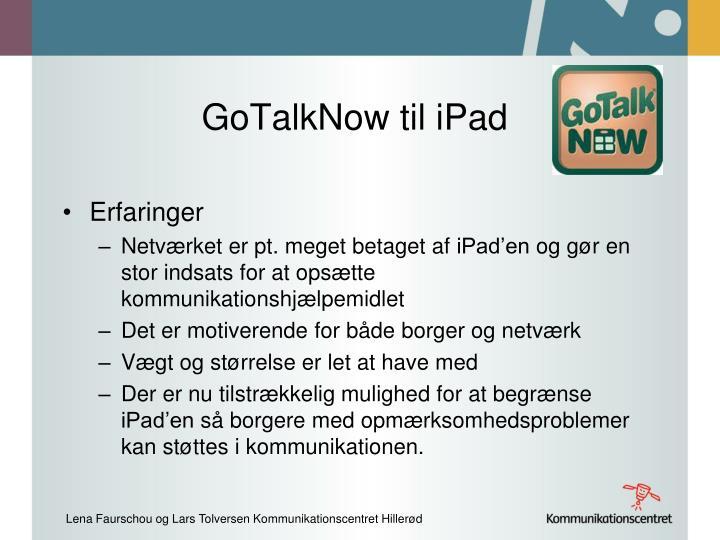 GoTalkNow til iPad