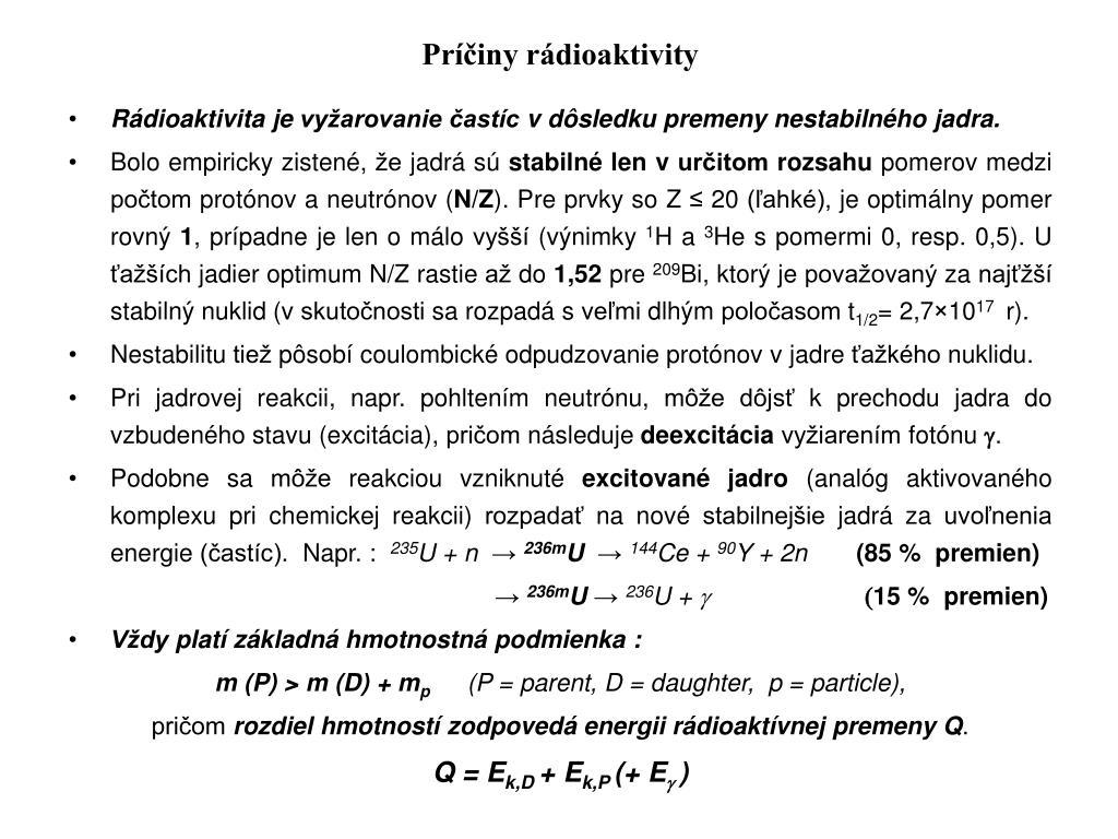 Rádioaktívne datovania chémia definícia
