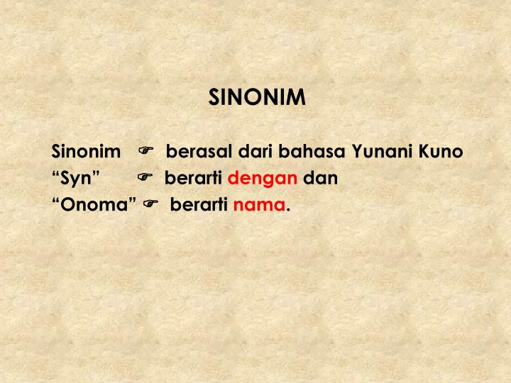 SINONIM