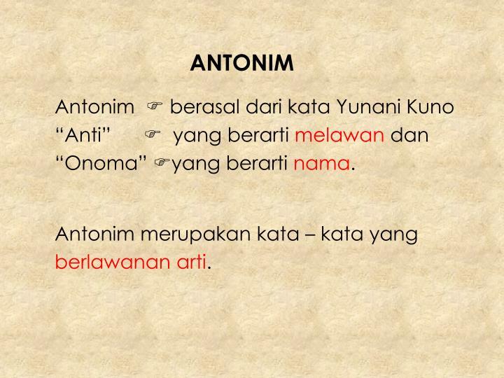 ANTONIM