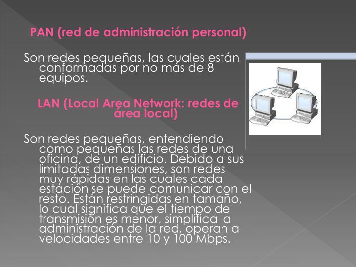 PAN (red de administración personal)