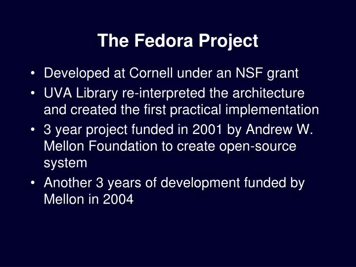The fedora project