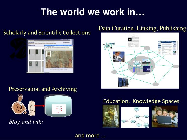 The world we work in…