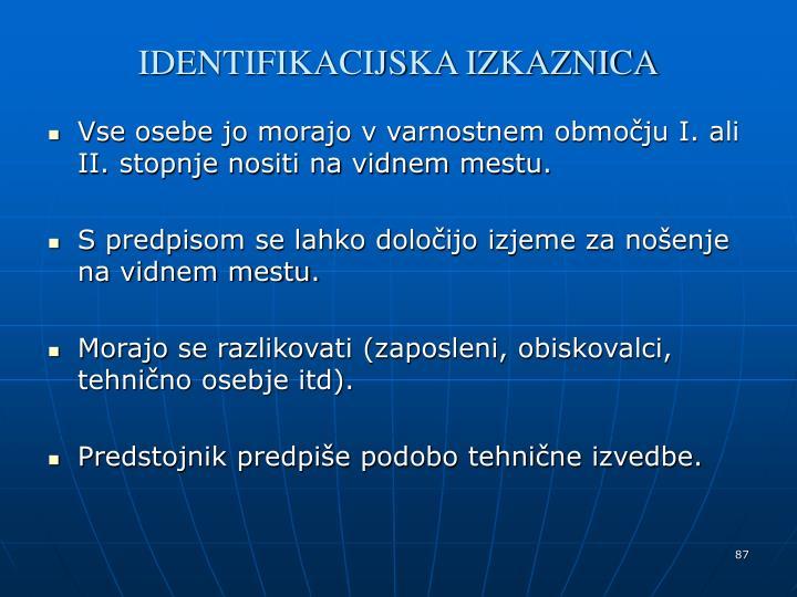 IDENTIFIKACIJSKA IZKAZNICA