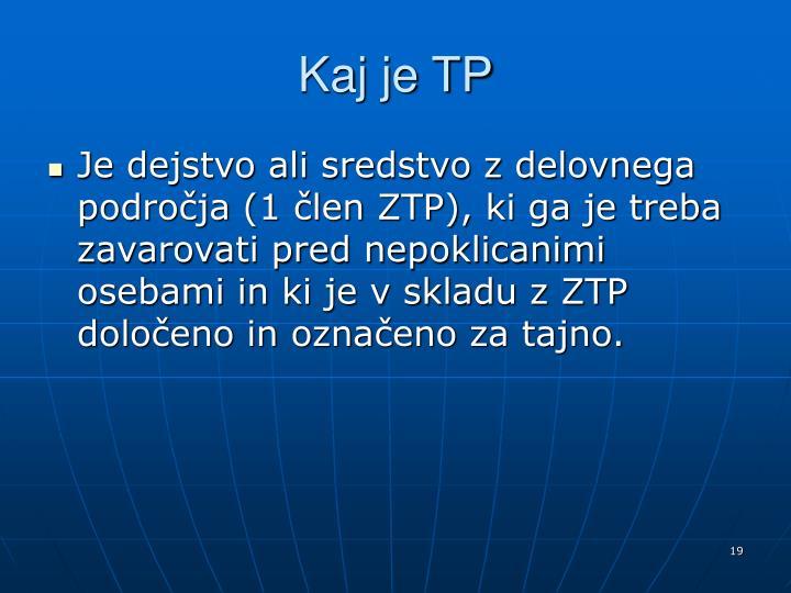 Kaj je TP