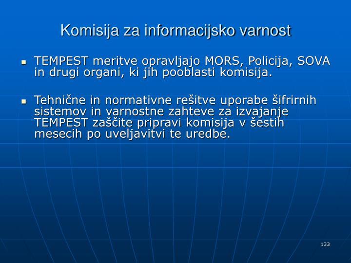 Komisija za informacijsko varnost