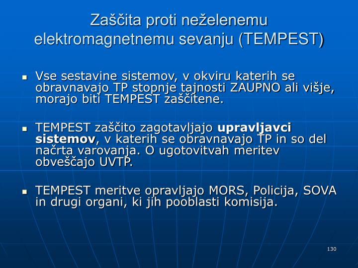 Zaščita proti neželenemu elektromagnetnemu sevanju (TEMPEST)