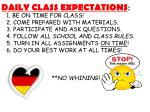 daily class expectations