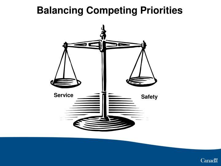 Balancing Competing Priorities