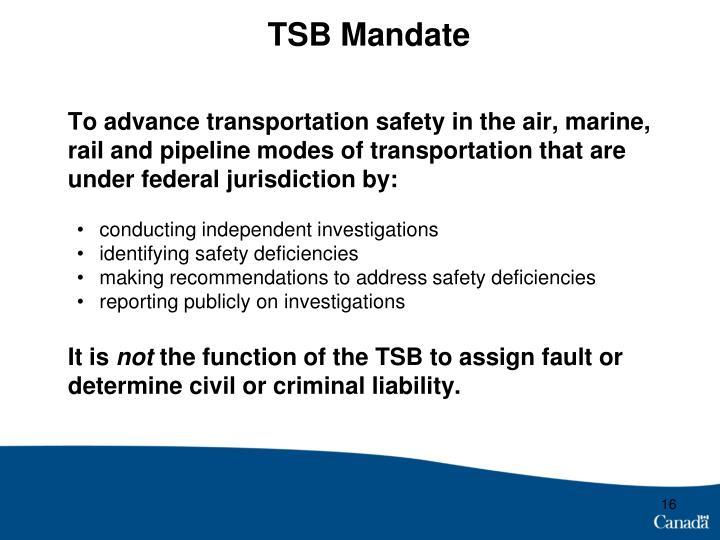 TSB Mandate