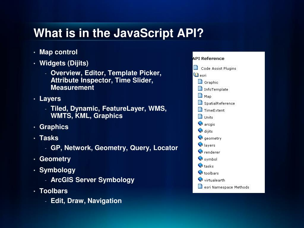 PPT - Introduction to ArcGIS API for JavaScript PowerPoint