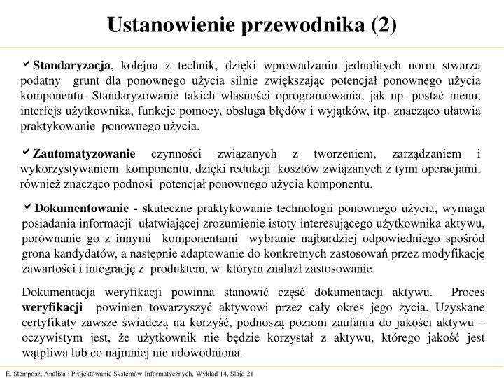 Ustanowienie przewodnika (2)