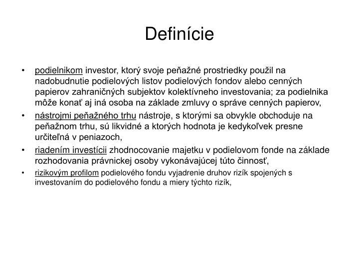 Definície
