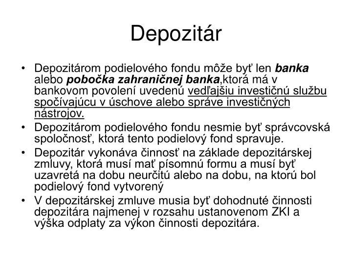 Depozitár