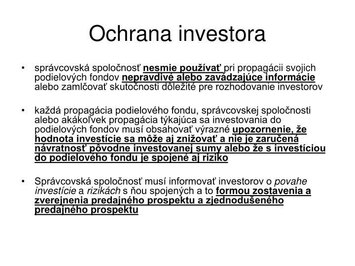Ochrana investora