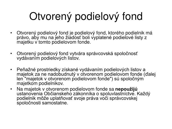 Otvorený podielový fond