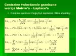 centralne twierdzenie graniczne wersja moivre a laplace a1