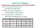 area time tradeoffs