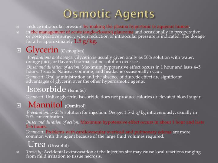 Osmotic Agents